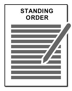PDF document: Standing Order